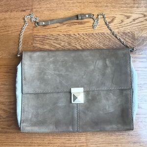 ZARA taupe suede shoulder bag purse ✨